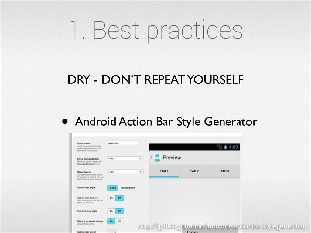 DRY - DON'T REPEAT YOURSELF • Android Action Ba...