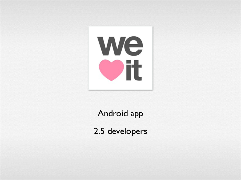 Android app 2.5 developers