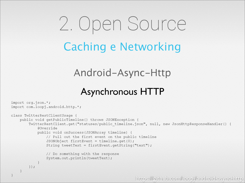 2. Open Source Caching e Networking Android-Asy...