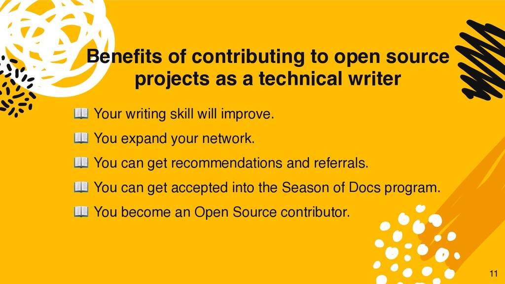 Benefits of contributing to open source project...