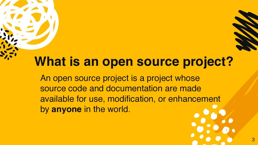 What is an open source project? An open source ...