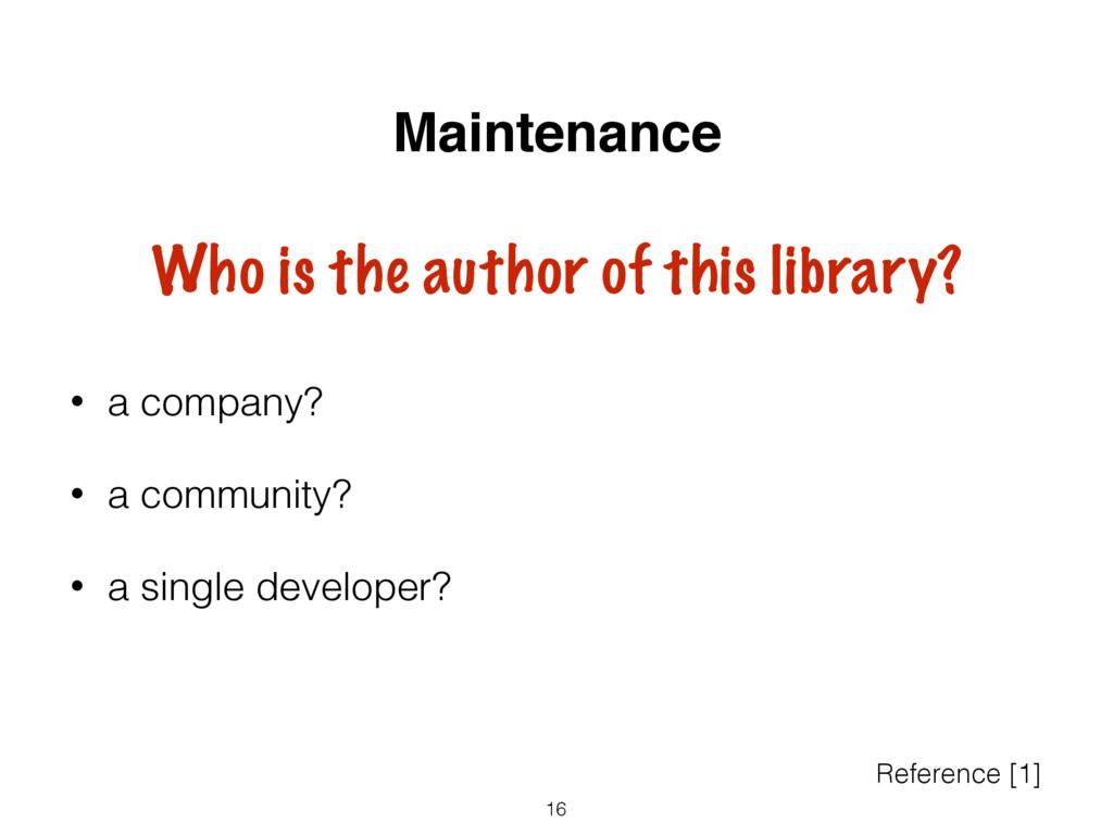 • a company? • a community? • a single develope...