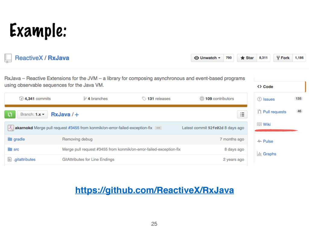 25 Example: https://github.com/ReactiveX/RxJava