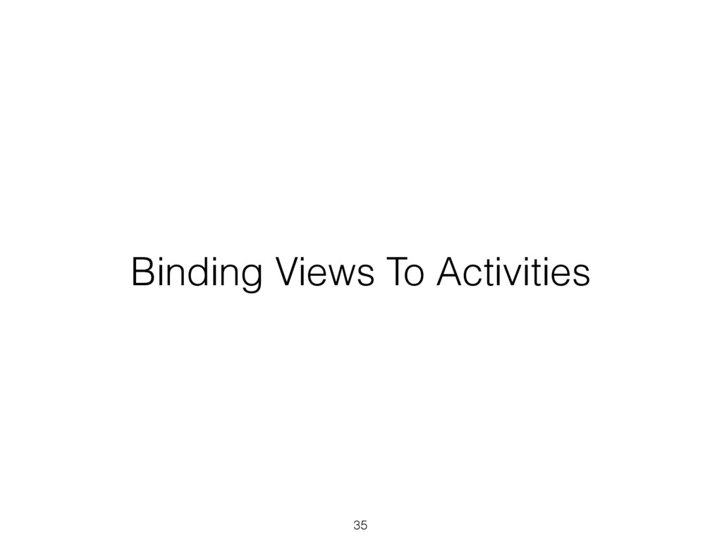 Binding Views To Activities 35