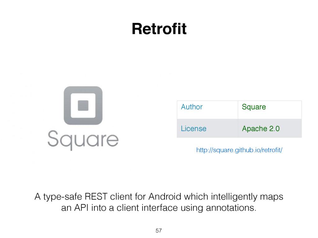 57 Retrofit Author Square License Apache 2.0 A t...