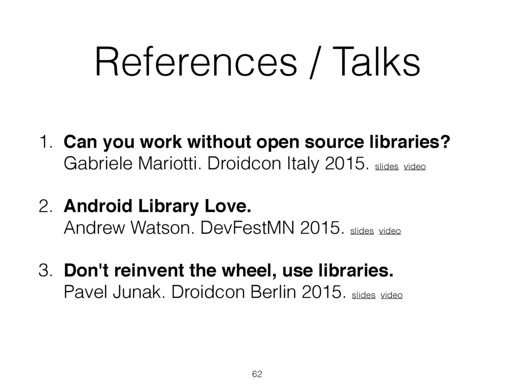 References / Talks 1. Can you work without open...