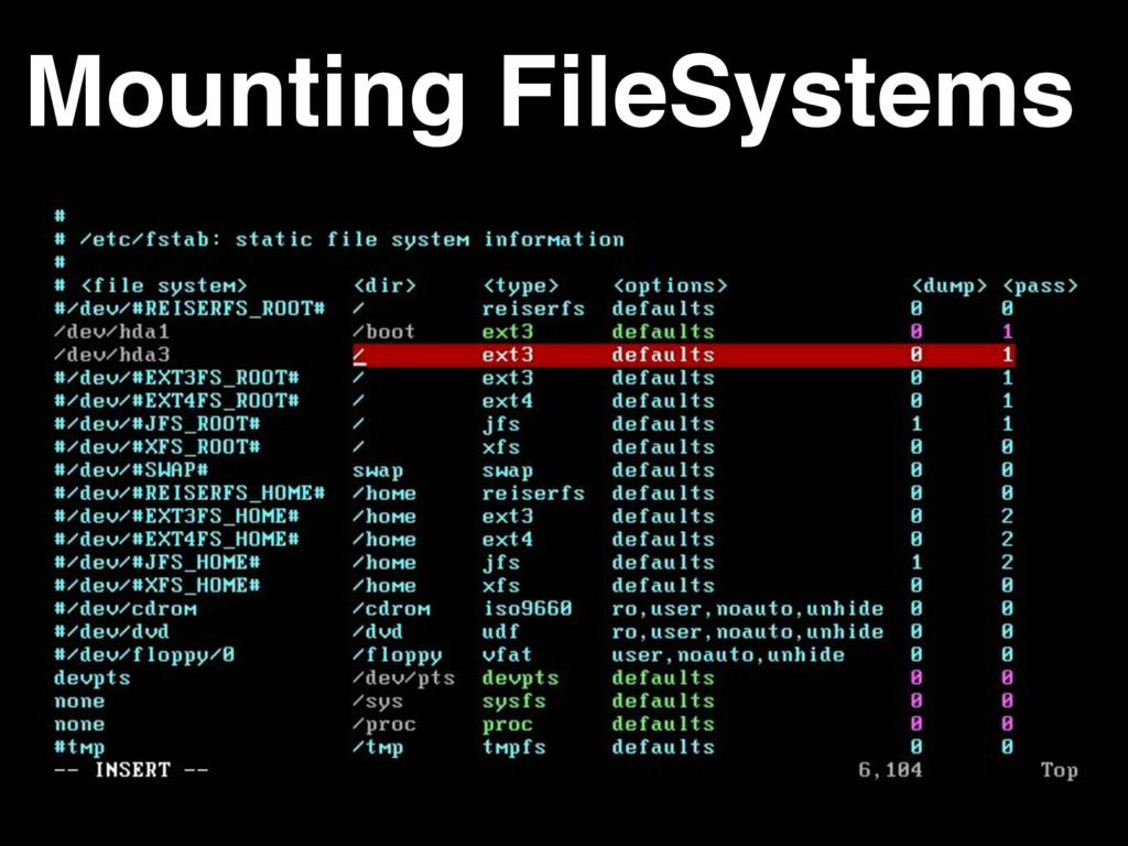 Mounting FileSystems