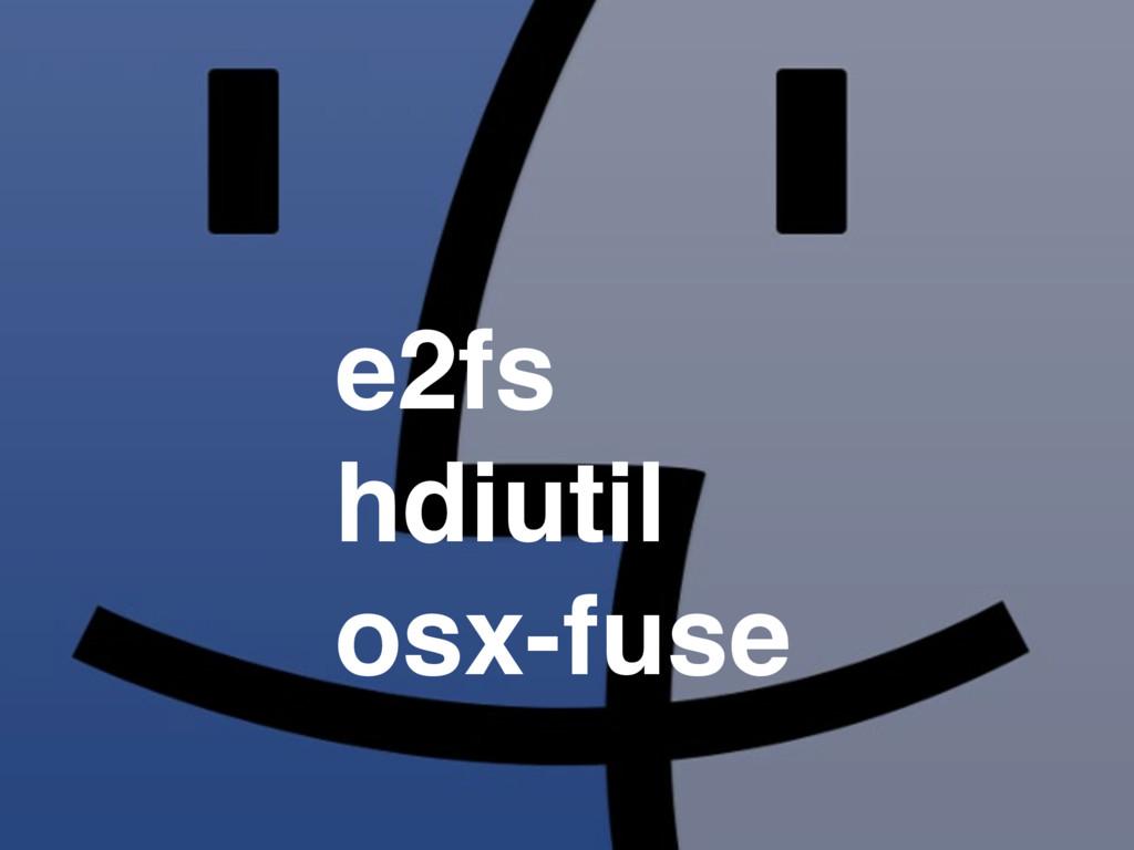 e2fs hdiutil osx-fuse