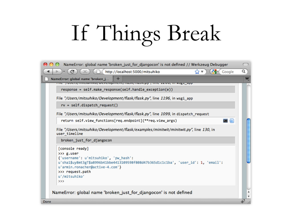 If Things Break