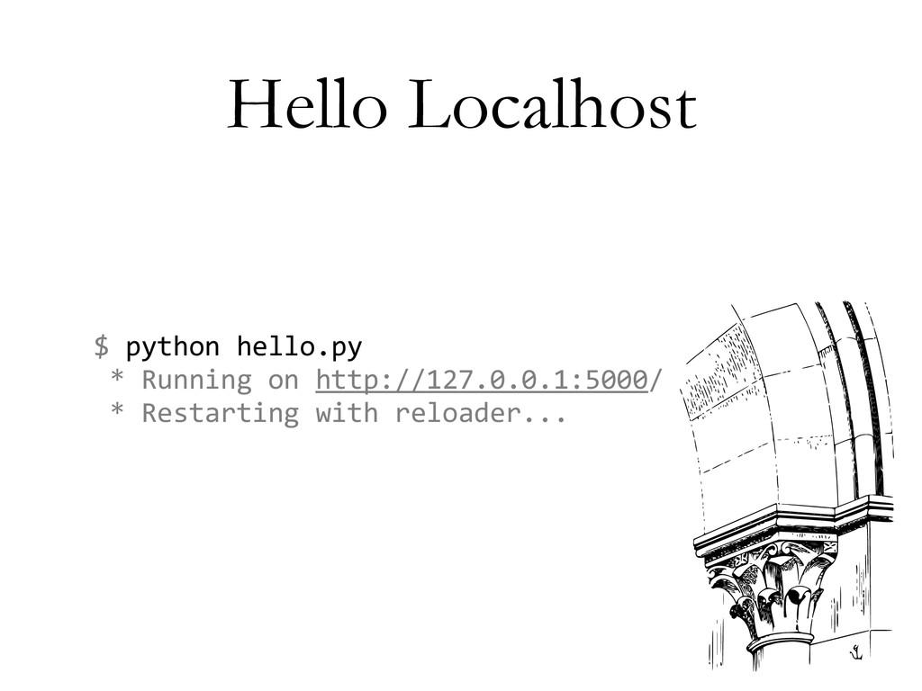 Hello Localhost $ python hello.py  *...