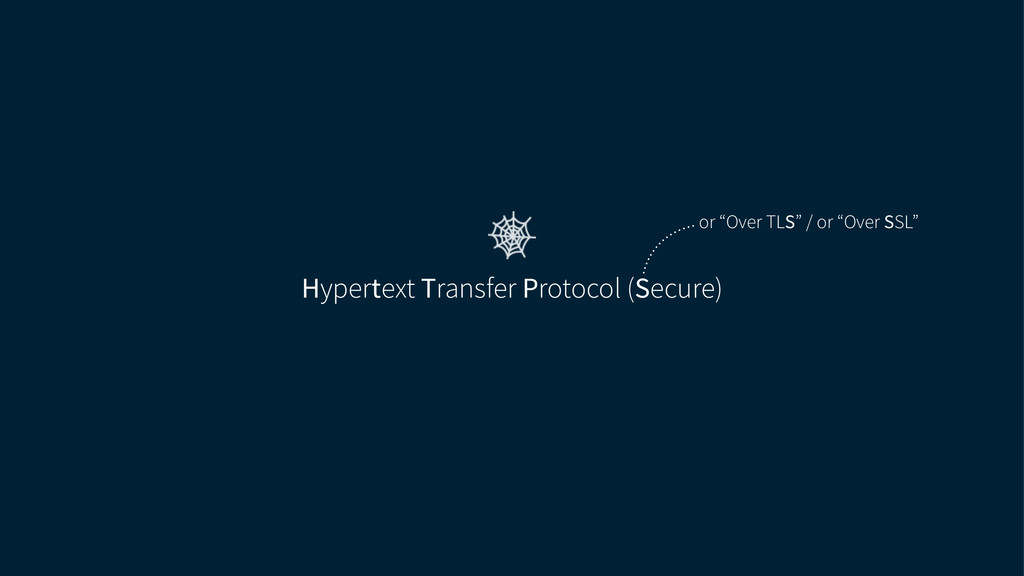 "Hypertext Transfer Protocol (Secure) or ""Over T..."