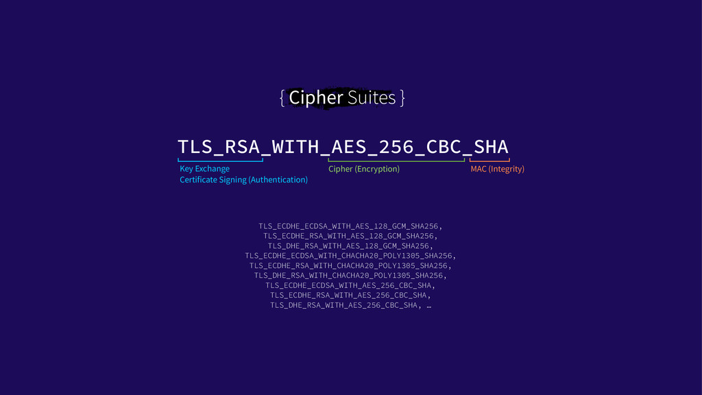 { Cipher Suites } TLS_RSA_WITH_AES_256_CBC_SHA ...