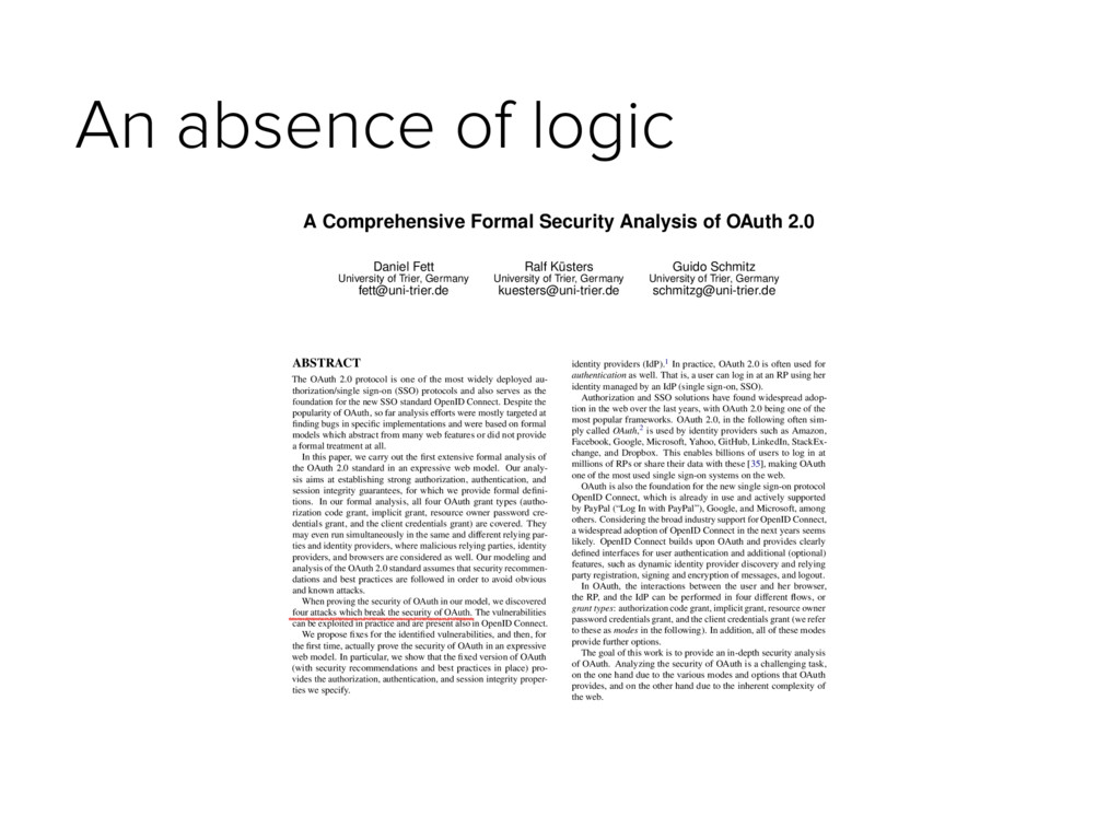 An absence of logic A Comprehensive Formal Secu...
