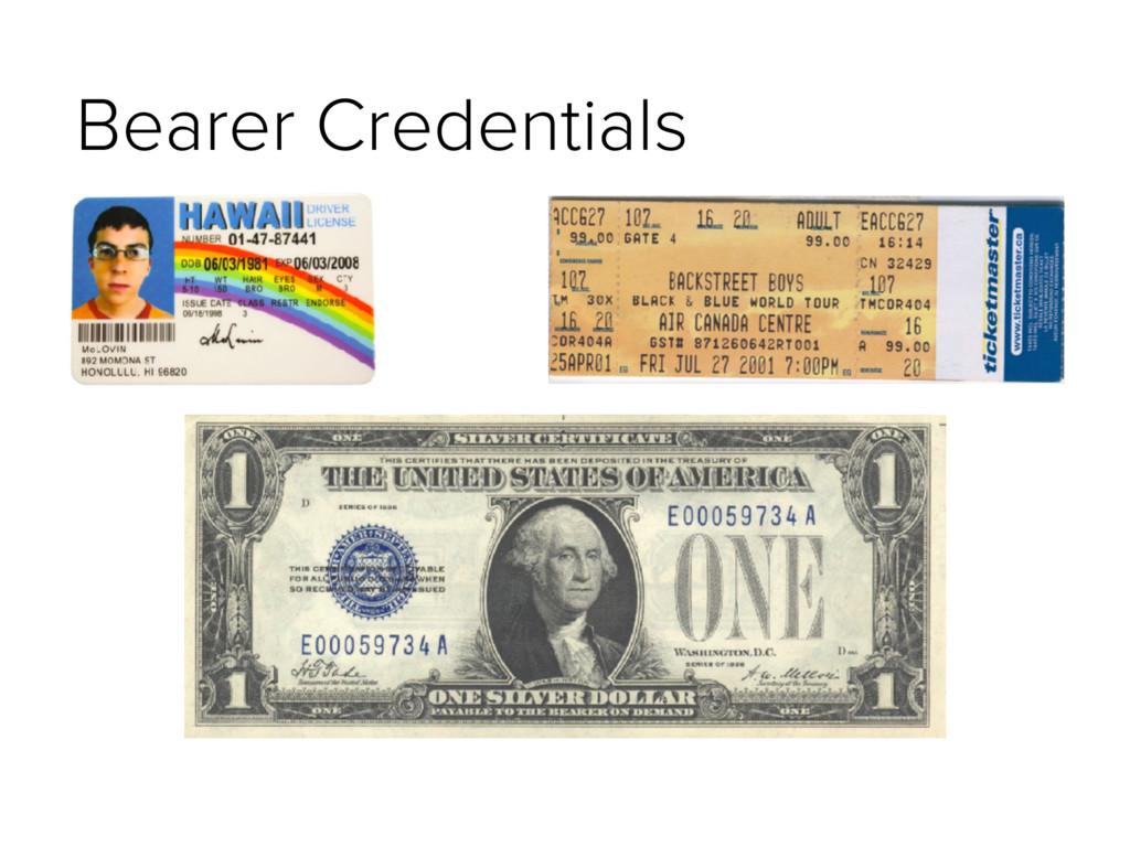 Bearer Credentials