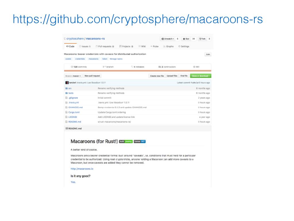 https://github.com/cryptosphere/macaroons-rs