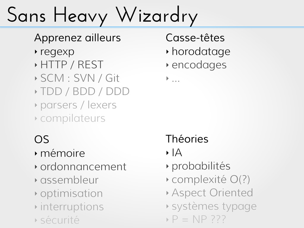 Sans Heavy Wizardry OS ‣ mémoire ‣ ordonnanceme...