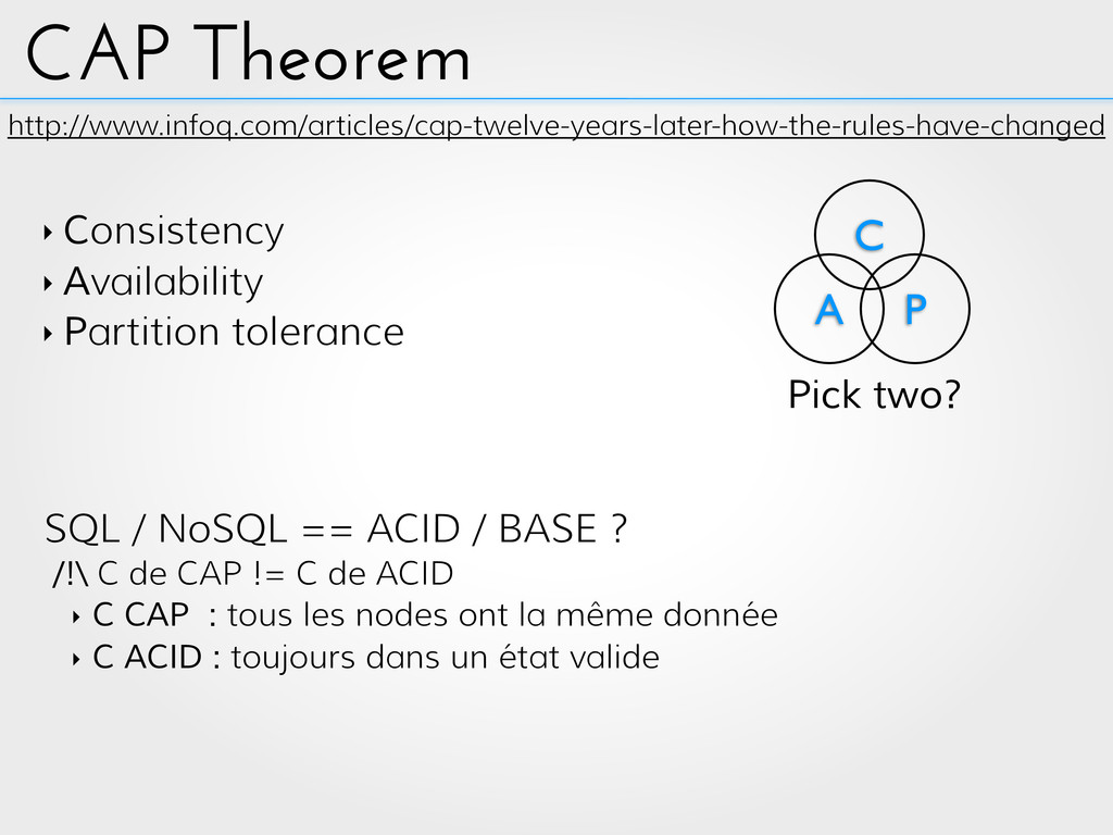 CAP Theorem http://www.infoq.com/articles/cap-t...