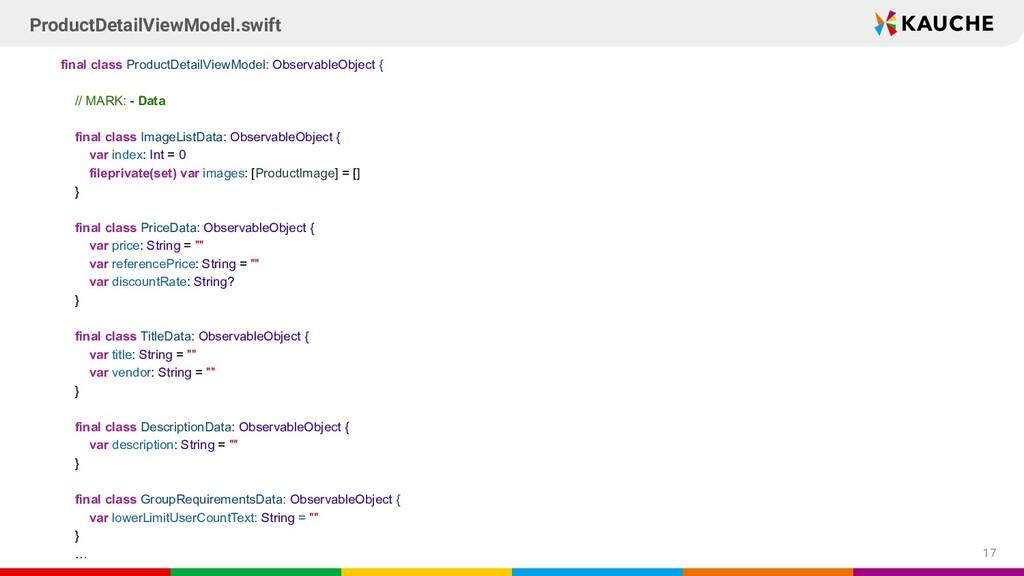 final class ProductDetailViewModel: ObservableO...