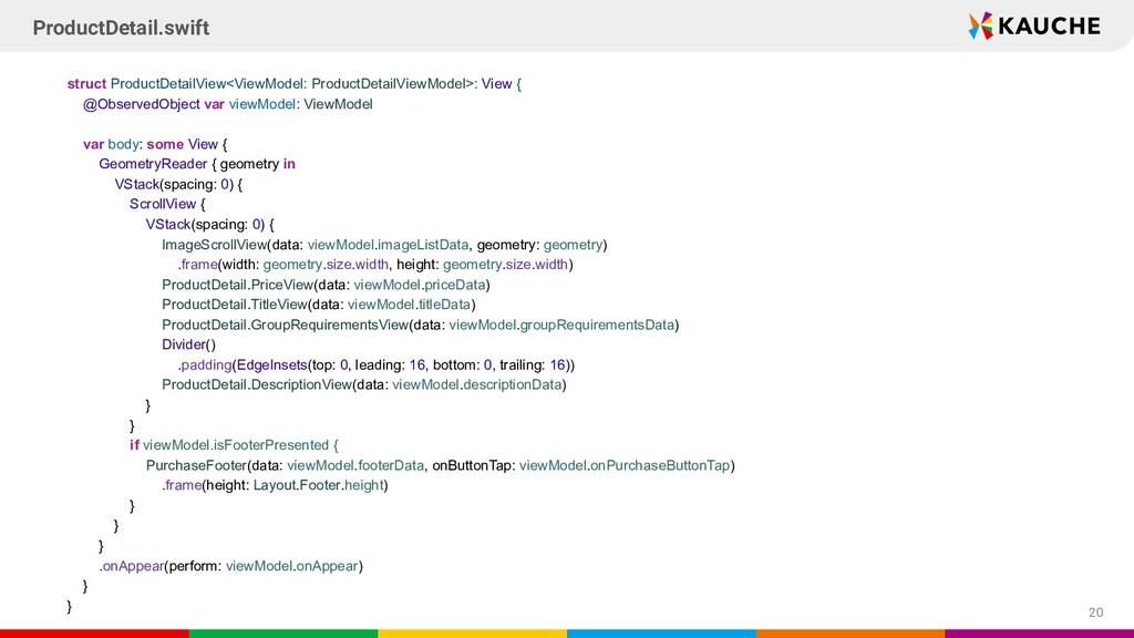 struct ProductDetailView<ViewModel: ProductDeta...