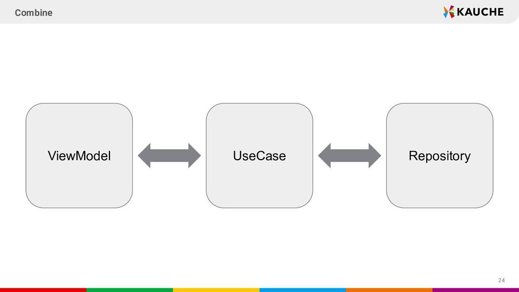 24 Combine UseCase ViewModel Repository