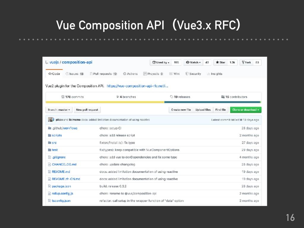Vue Composition APIʢVue3.x RFCʣ 16