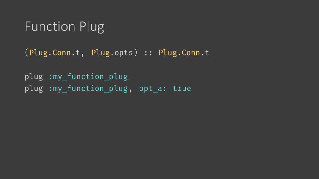 Function Plug (Plug.Conn.t, Plug.opts) :: Plug....