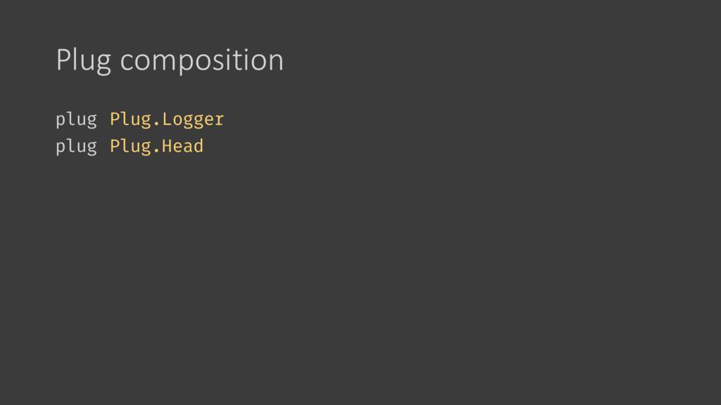 Plug composition plug Plug.Logger plug Plug.Head
