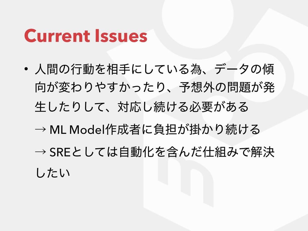 Current Issues • ਓؒͷߦಈΛ૬खʹ͍ͯ͠Δҝɺσʔλͷ ͕มΘΓ͔ͬ͢...