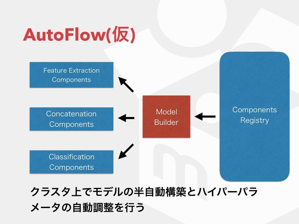 AutoFlow(Ծ) 'FBUVSF&YUSBDUJPO $PNQPOFOUT $MBT...