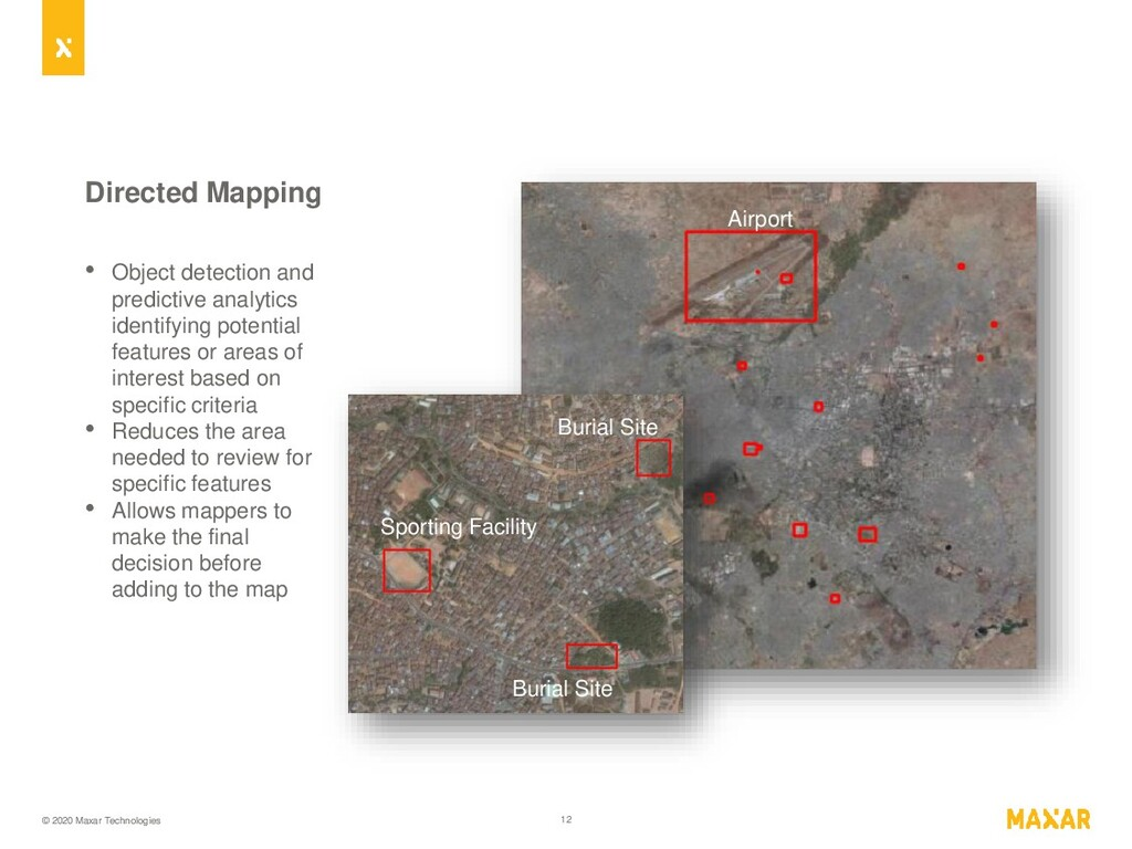 © 2020 Maxar Technologies 12 Directed Mapping •...