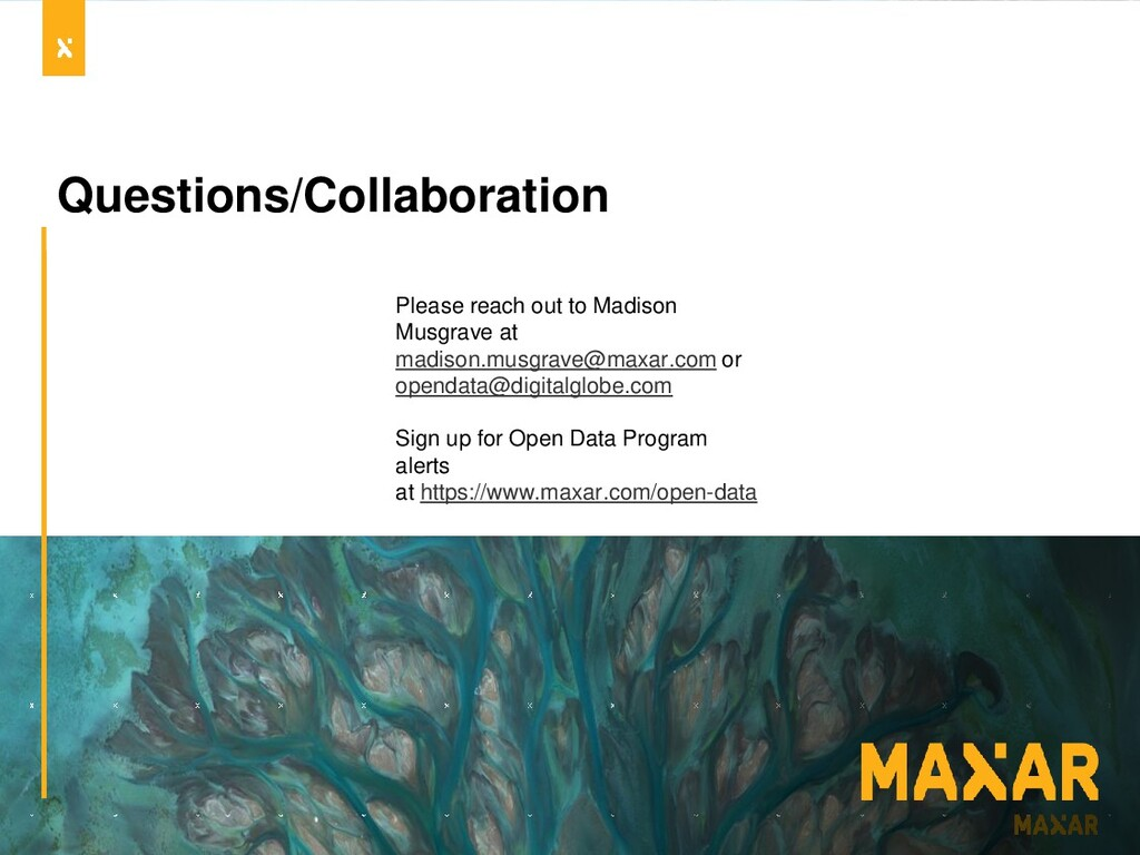 Questions/Collaboration Please reach out to Mad...