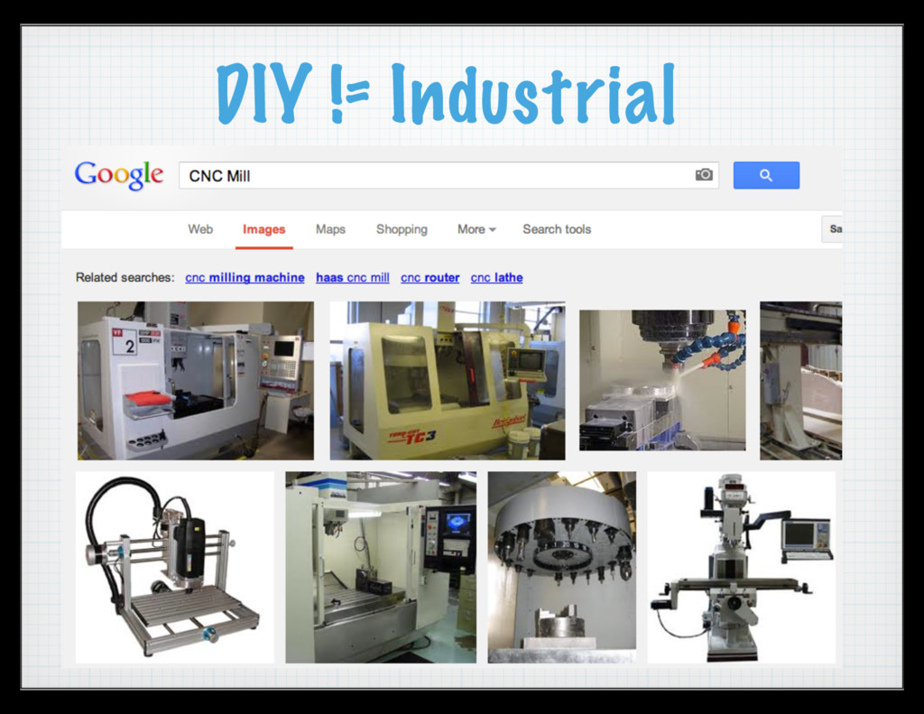 DIY != Industrial