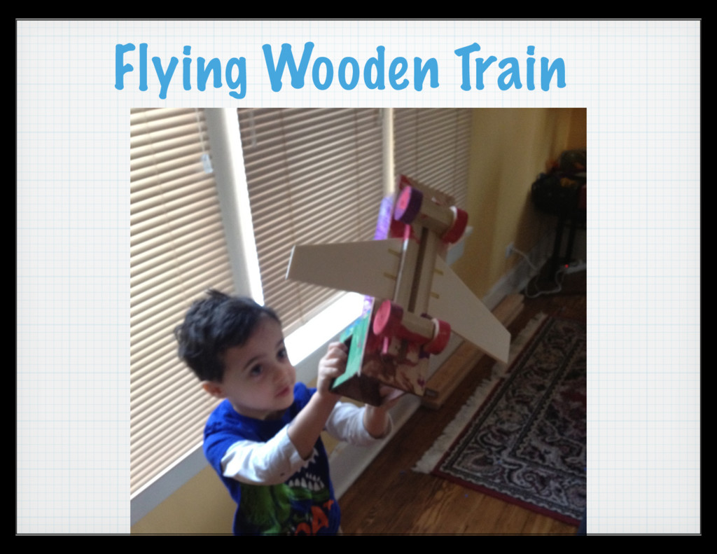 Flying Wooden Train
