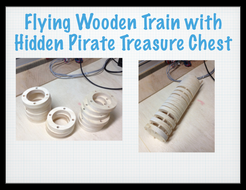 Flying Wooden Train with Hidden Pirate Treasure...