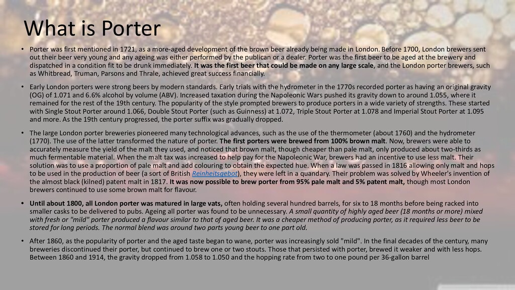 What is Porter • Porter was first mentioned in ...