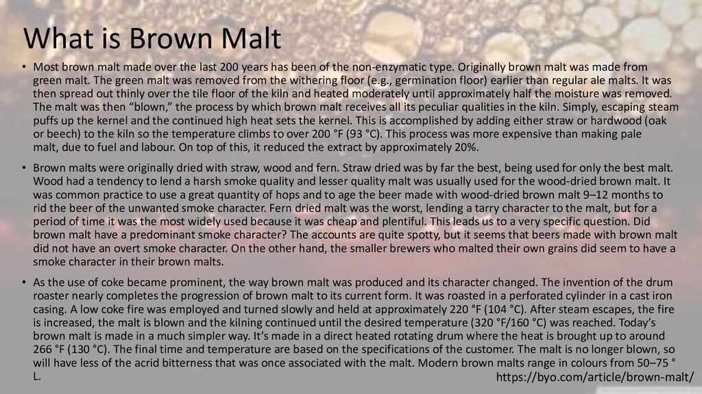 What is Brown Malt • Most brown malt made over ...