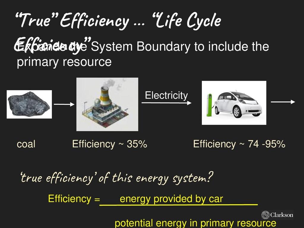 """""""True """" Efficie ncy … """"Life C ycle Efficie ncy""""..."""