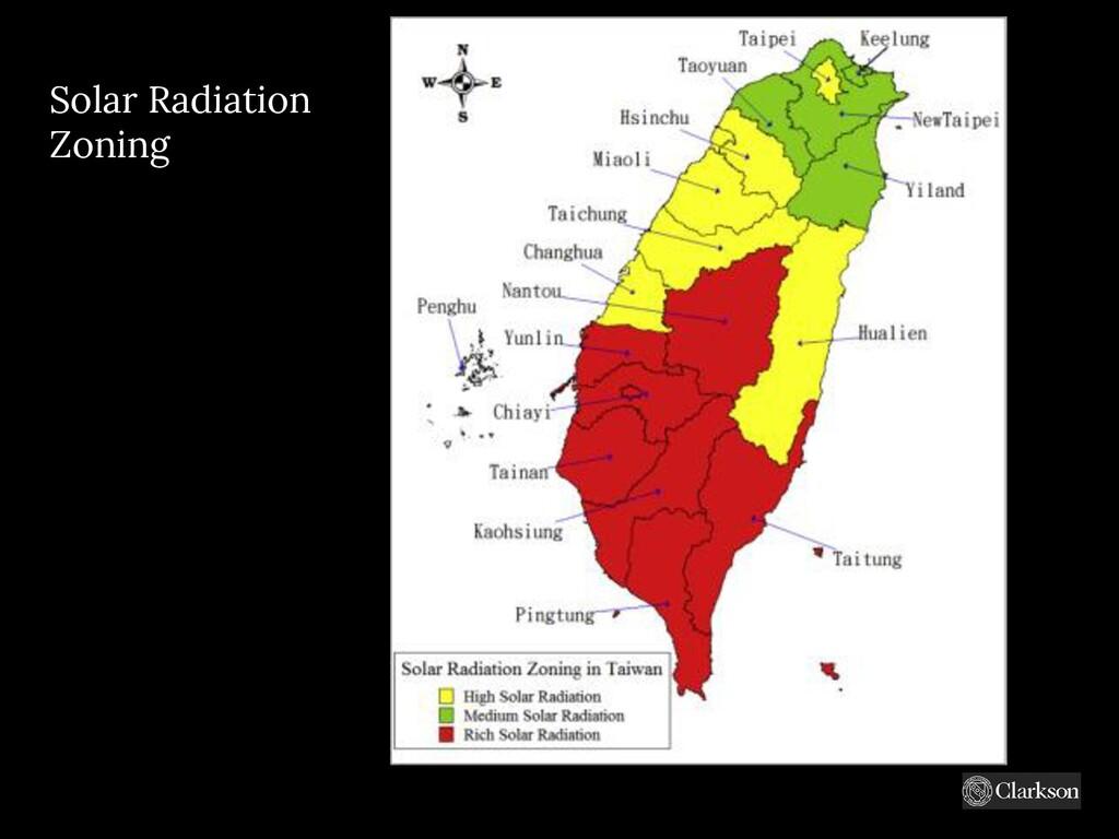 Solar Radiation Zoning https://www.google.com/u...