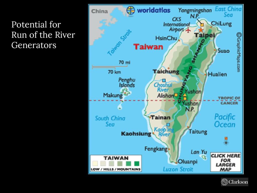 Potential for Run of the River Generators https...