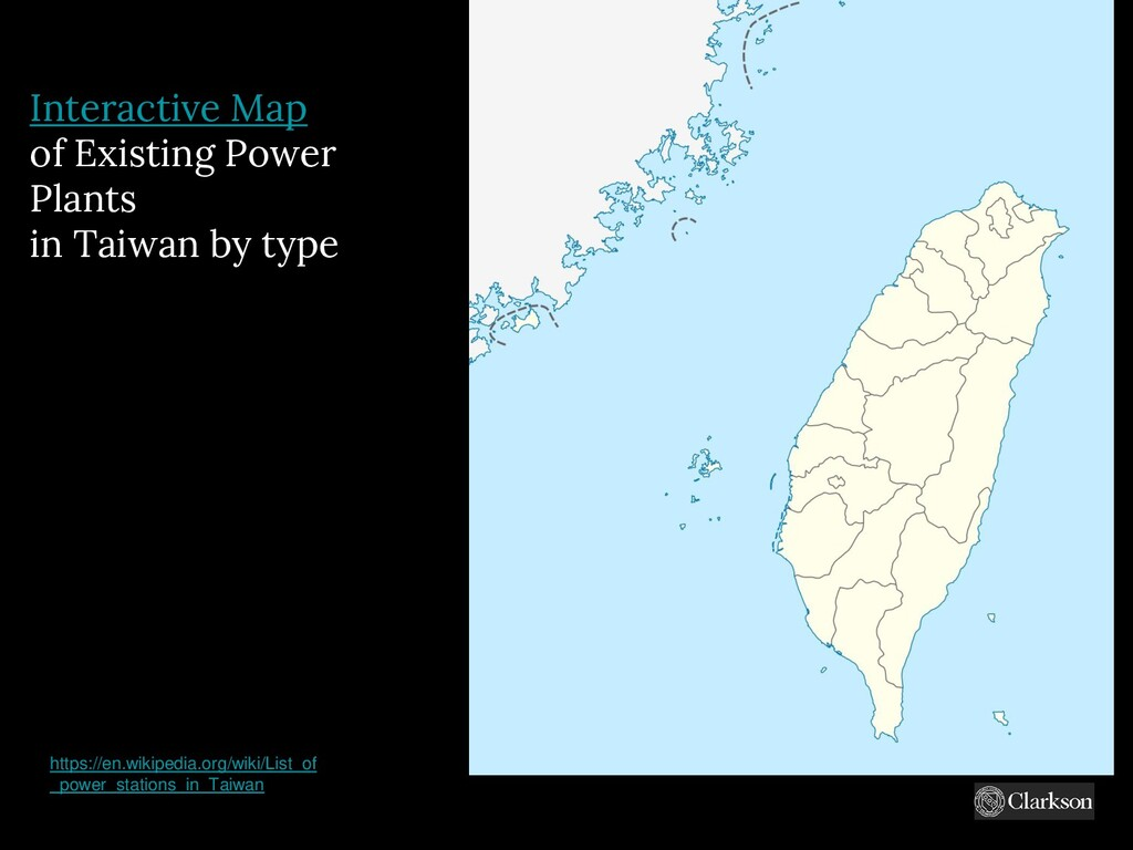 Interactive Map of Existing Power Plants in Tai...