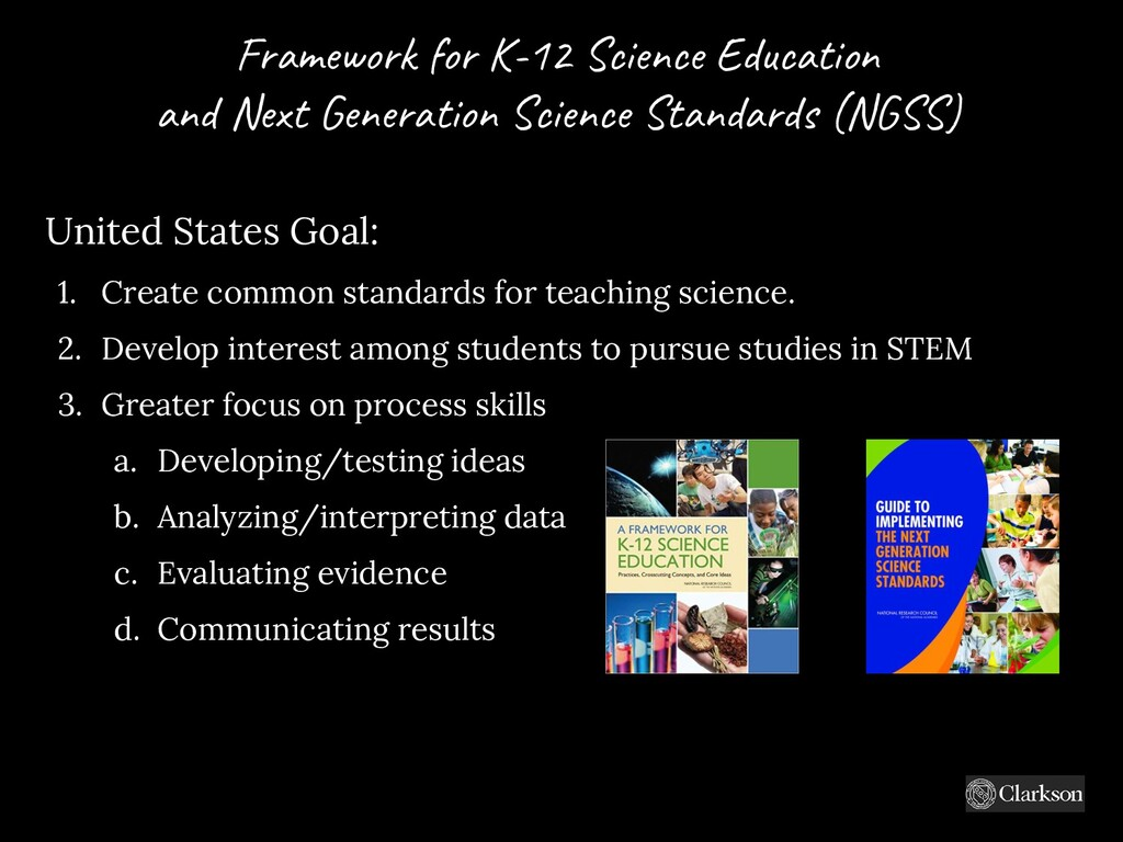 Fram e w o rk fo r K-12 Science Education and N...
