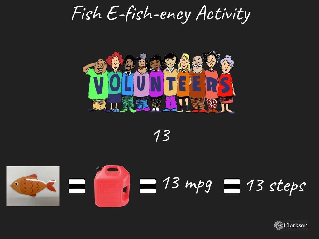 Fish E-fish-ency A ctivity 13 m pg 13 steps 13