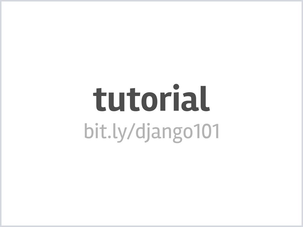tutorial bit.ly/django101