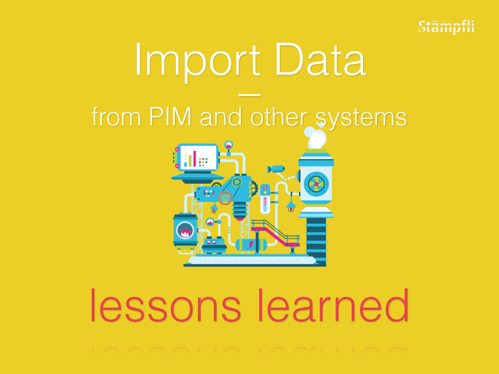 Import Data – from PIM and other systems lesson...