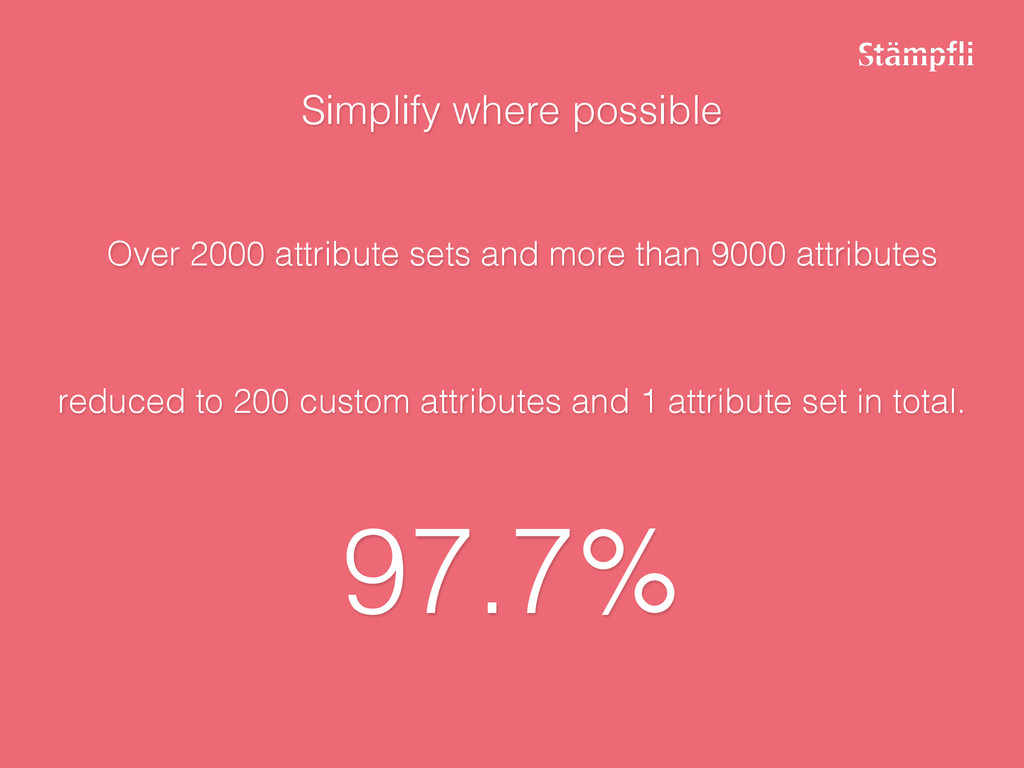Simplify where possible reduced to 200 custom a...