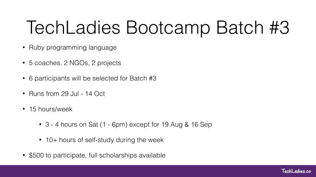 TechLadies.co TechLadies Bootcamp Batch #3 • Ru...