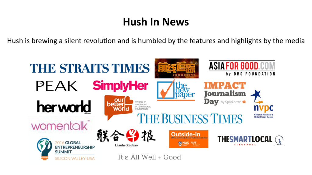 Hush In News Hush is brewing a silent revolu2on...