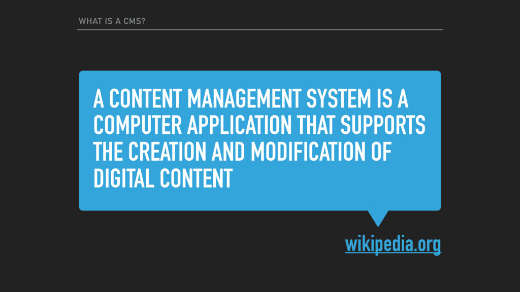 A CONTENT MANAGEMENT SYSTEM IS A COMPUTER APPLI...