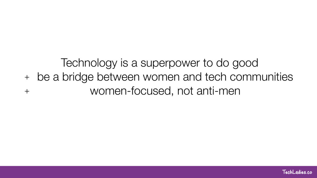 TechLadies.co Technology is a superpower to do ...