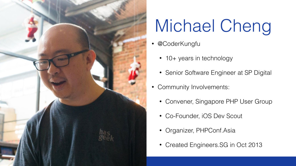 Michael Cheng • @CoderKungfu • 10+ years in tec...